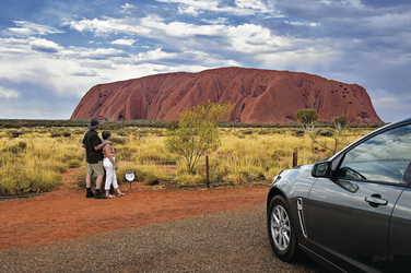 Stopp am Ayers Rock ©Tourism NT, ©Tourism NT