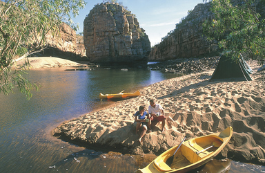 Optional: Per Kanu durch die Katherine Gorge
