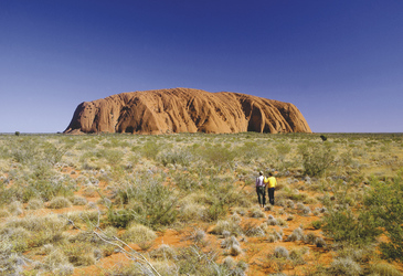 Am Ayers Rock (Uluru)