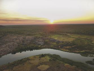 Sonnenuntergang im Tropischen Norden