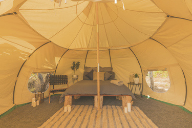Deluxe Lotus Belle Glamping Zelt, ©Matt Wright Explore the Wild