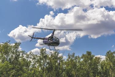 Beim Helikopterrundflug