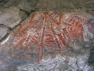 Aboriginal Felsmalerei Urmutter