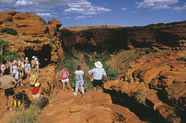 Besucher im Kings Canyon
