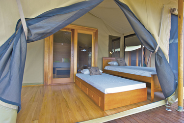 Safarizelt mit zusätzlichem Tages-Bett