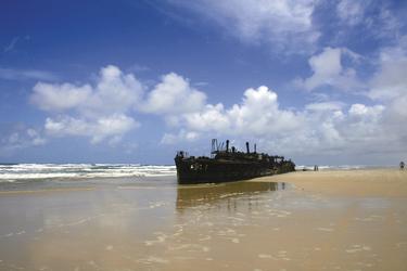 Maheno Schiffswrack auf Fraser Island