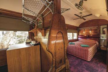 Abteil mit Doppelbett - auf Wunsch mit eigenem Bad