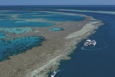 Riffplattform im Great Barrier Reef ©Brooke Miles