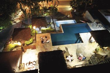 Poolblick von einem Apartment