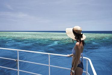Blick auf´s Great Barrier Reef ©Katie Purling
