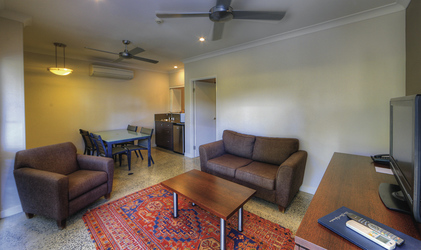 Wohnbereich im Apartment