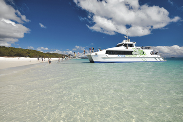 Vor Anker am Whitehaven Beach