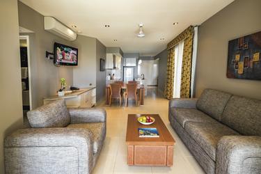Wohnbereich der Welcome Bay Suite, ©Christian Miller
