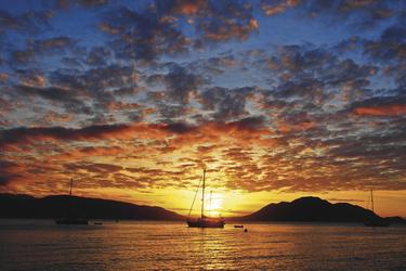 Stimmungsvoller Sonnenuntergang