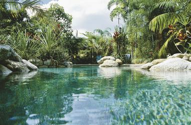 Einer der Swimmingpools