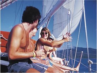 Beim Segeln mit der Ocean Free
