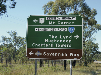 Wegweiser zum Savannah Way