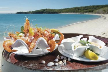 Meeresfrüchte am Putney Beach