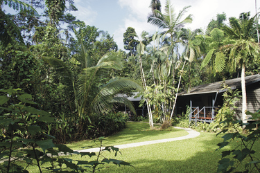 Cabins in der Gartenanlage