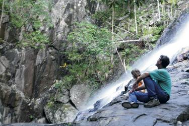 Wanderer in der Nähe der Mungumby Lodge