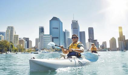 Brisbane River Skyline Riverlife Kayaking