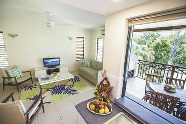 Wohnbereich und Balkon
