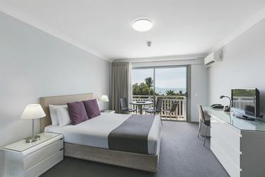 Meerblickzimmer mit Doppelbett
