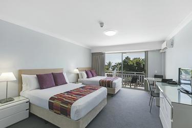 Meerblickzimmer mit Einzelbetten