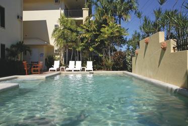 Pool für die Apartments