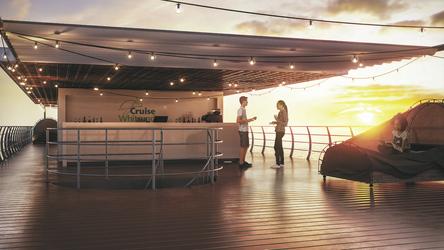 Sonnenuntergang an Deck