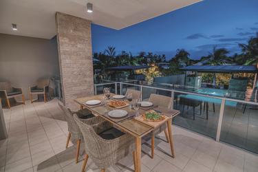 Abendstimmung auf dem Balkon