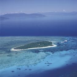 Blick auf Green Island