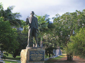 Captain Cook Statue in Cooktown