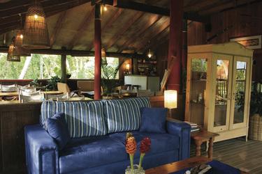 Lounge und Restaurant im Haupthaus