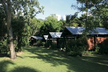 Bungalows im Garten