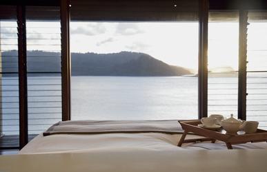 Windward Pavilion, Schlafzimmer mit Meerblick