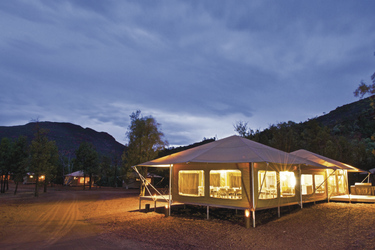 Restaurantzelt im Ikara Safari Camp