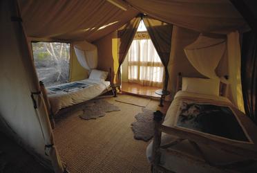 Zweibettzimmer im Zelt