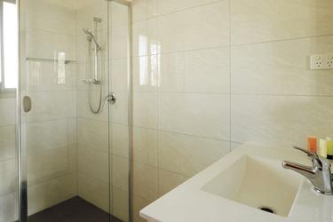 Dusche in der Holiday Unit