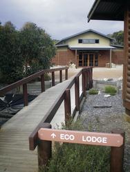 Einfache Lodge-Zimmer in separatem Gebäude