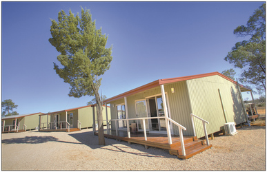 Cabins der Mungo Lodge