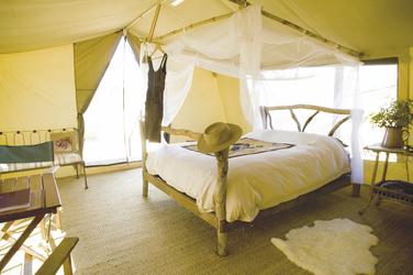 Zelt Innenansicht, Kangaluna Camp