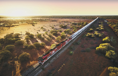 The Ghan unterwegs