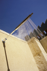 Zusätzliche Außendusche in der Stonewell Suite, ©Don Brice 2006