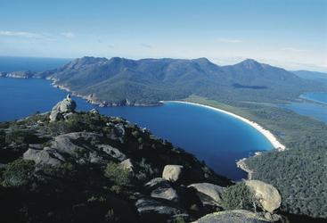 Blick auf die Wineglass Bay