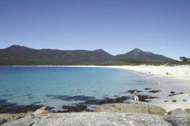 Strand in der Wineglass Bay