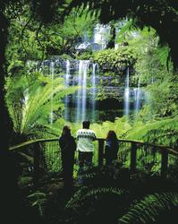 Bei den Russell Falls