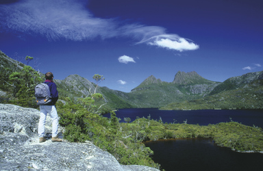 Am Lake Dove, Cradle Mountain NP