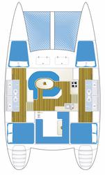 Deckplan Whitsunday Blue