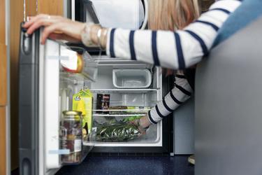 Natürlich auch ein Kühlschrank